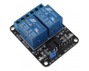 Arduino 2-Channel Relay Shield Module - Black